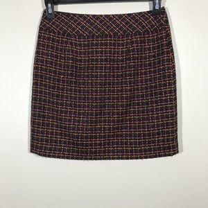 Loft Colorful Tweed Mini Skirt 4P